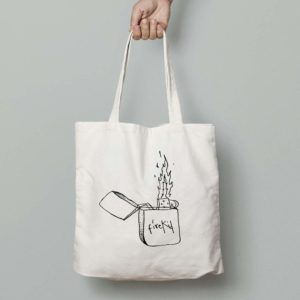 Bolsa Mechero Alice Wonder Blanca
