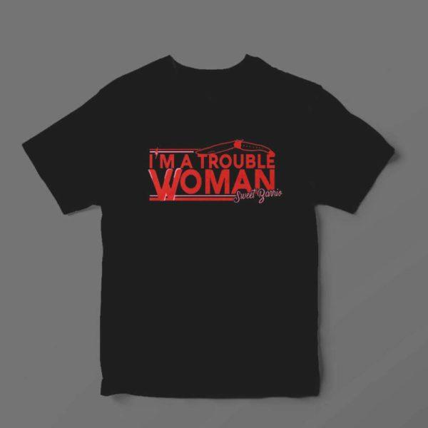 Camiseta Sweet Barrio Trouble Woman Negra